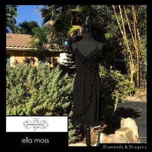 Ella Moss Soft Cotton Spaghetti Straps Ruffles EUC